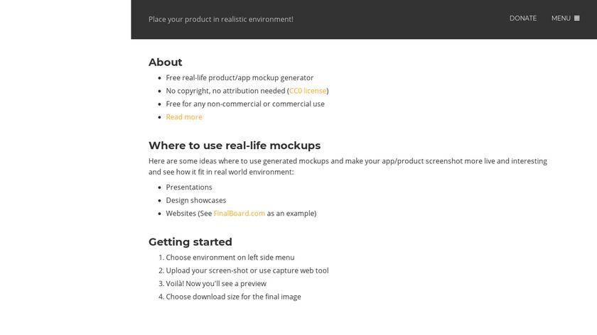 Magic Mockups Landing Page