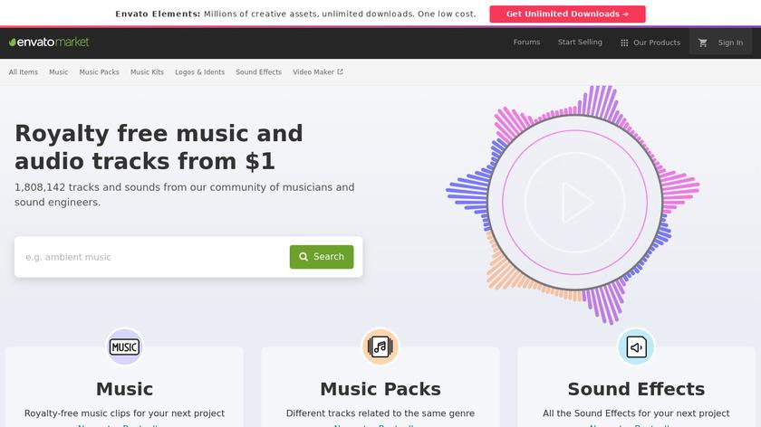 AudioJungle Landing Page