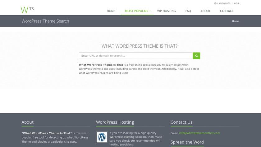 WordPress Theme Search Landing Page