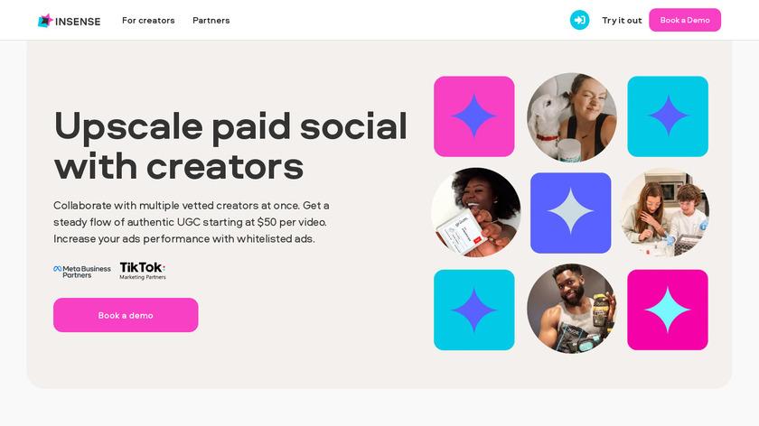 Insense & Paid Media Landing Page