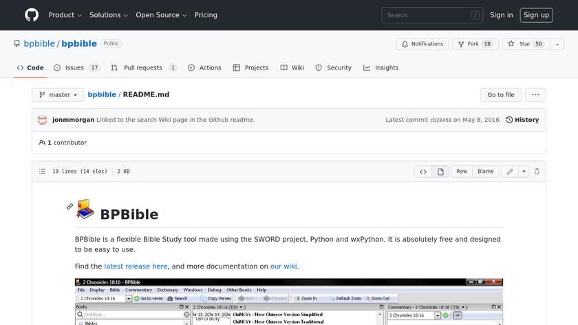 Bpbible Landing Page