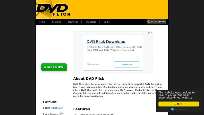 DVD Flick Landing Page