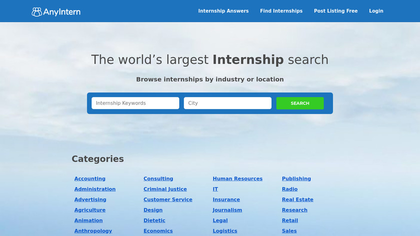 Any Intern Landing Page