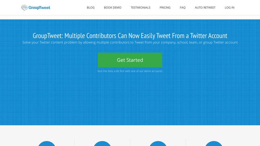 Grouptweet Landing Page