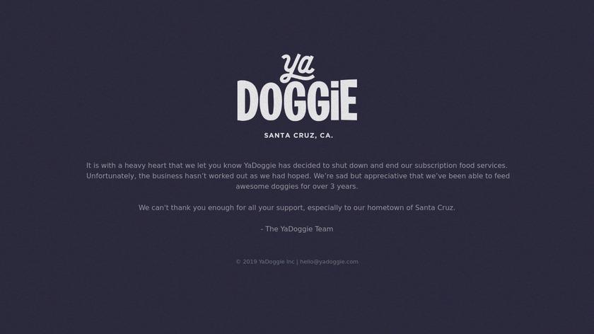 YaDoggie Landing Page