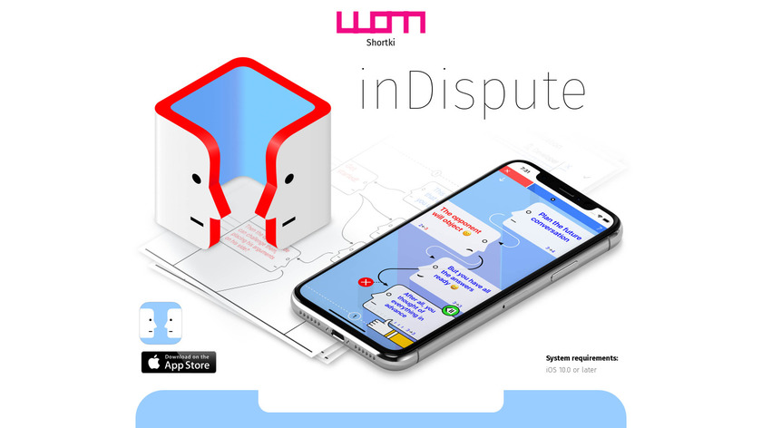 inDispute Landing Page