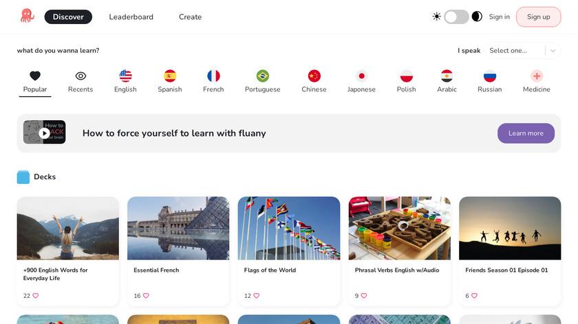 Fluany Landing Page
