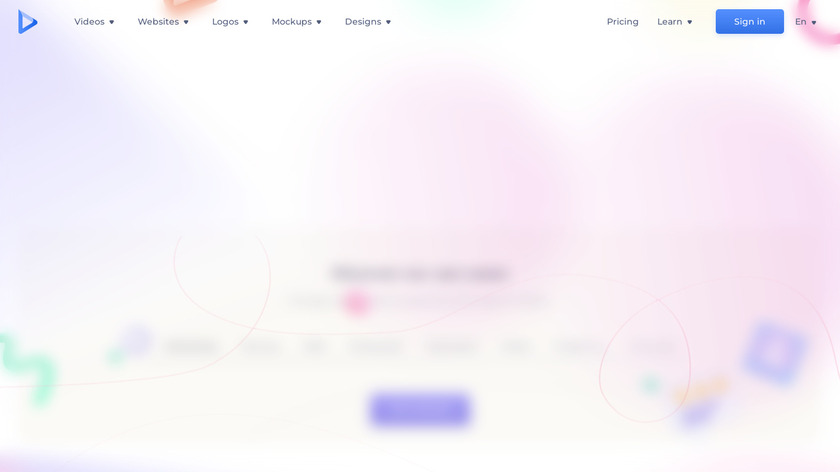 Renderforest Video Landing Page