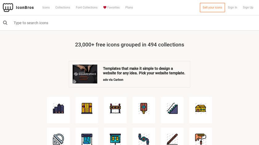 IconBros Landing Page