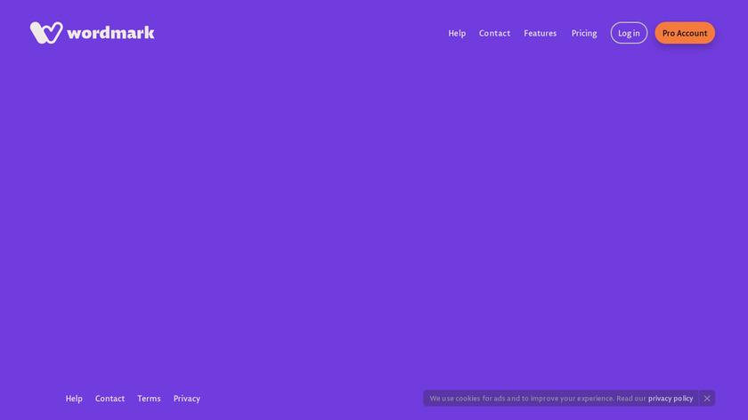 WordMark.it Landing Page