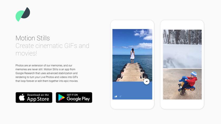 Motion Stills by Google Landing Page