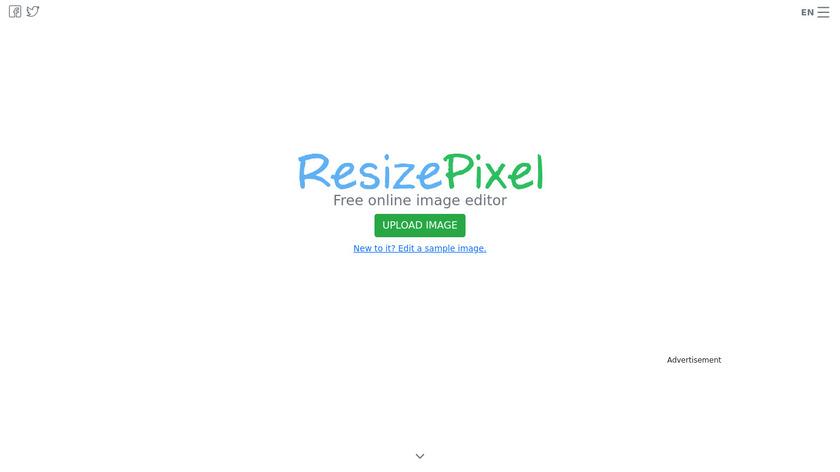 ResizePixel Landing Page