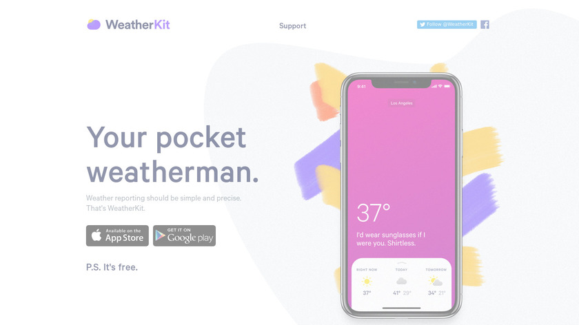 WeatherKit 3 Landing Page