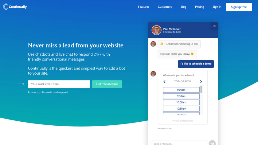 Continually Landing Page