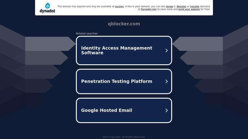 QBlocker Landing Page