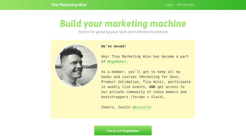 Tiny Marketing Wins Landing Page