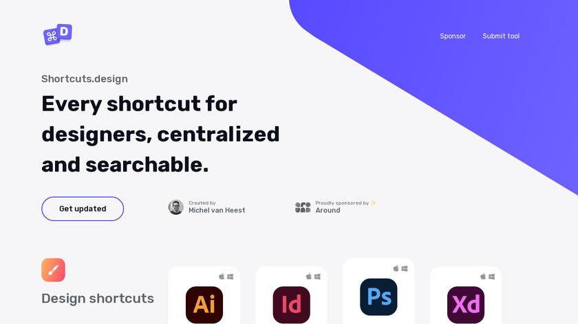 Shortcuts.design Landing Page