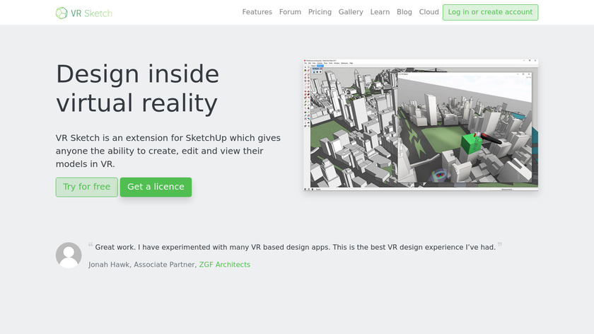 VR Sketch Landing Page