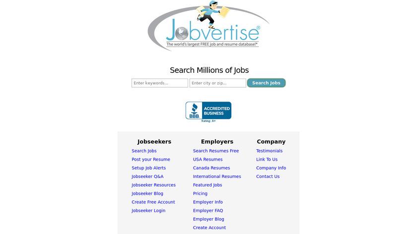Jobvertise Landing Page