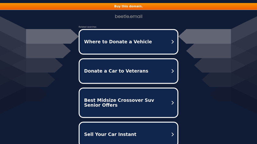 Beetle Email Landing Page