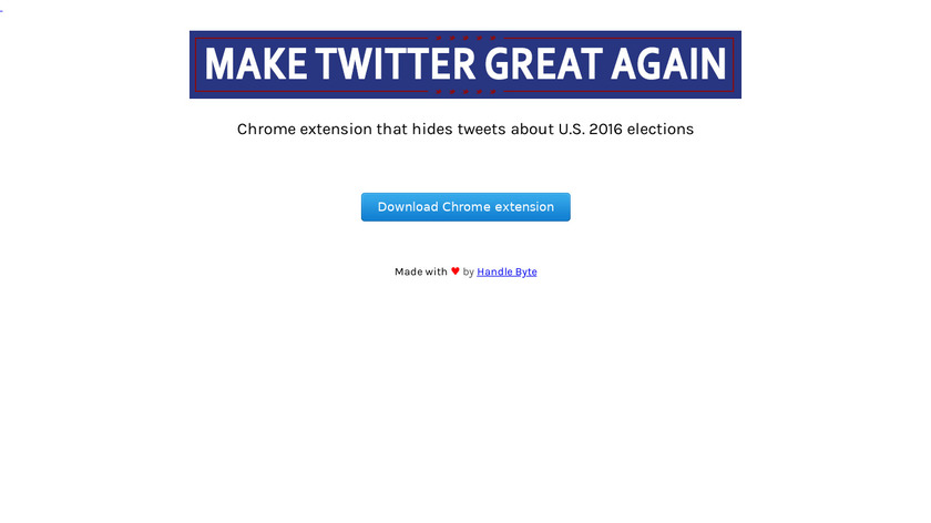 Make Twitter Great Again Landing Page