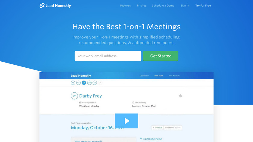 1-on-1 Meeting Assistant Landing Page