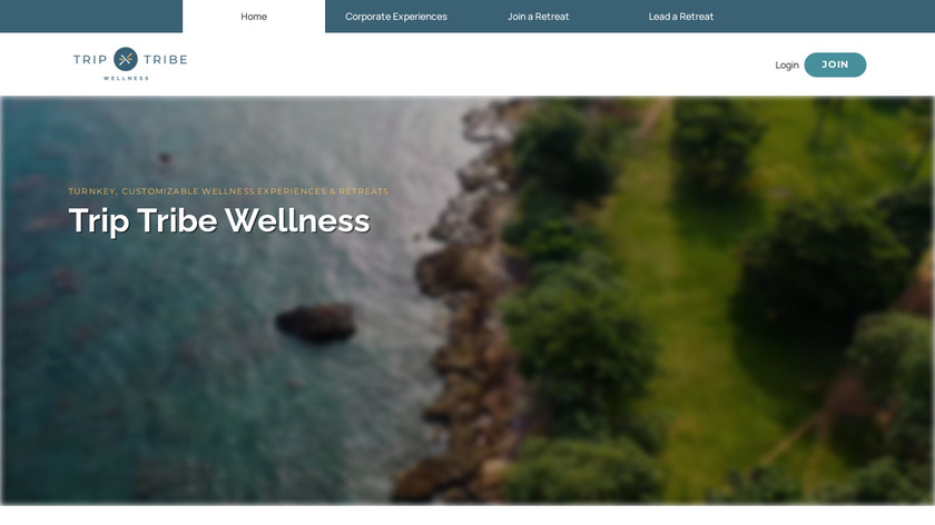The Trip Tribe Landing Page