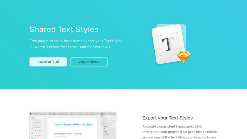 Shared Text Styles Landing Page