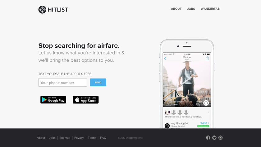 Hitlist Landing Page
