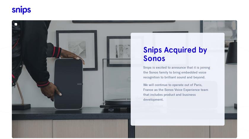 Snips Voice Platform Landing Page