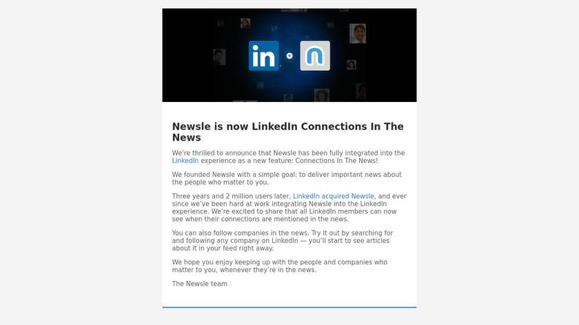 Newsle Landing Page