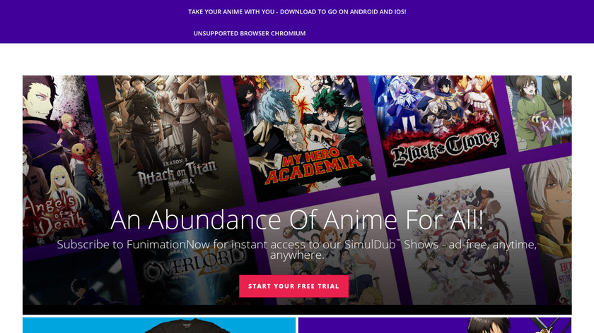 FUNimation Landing Page