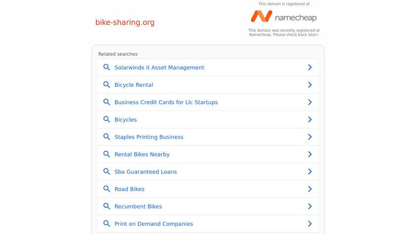 BikeSharing Landing Page