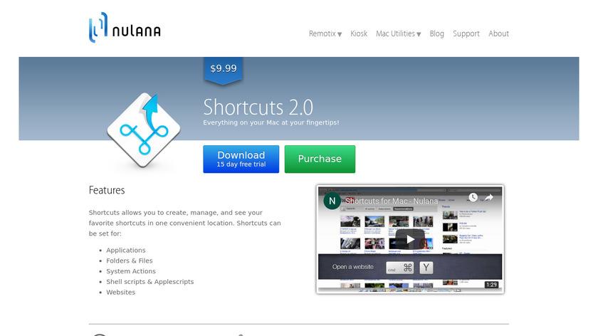 Shortcuts Landing Page