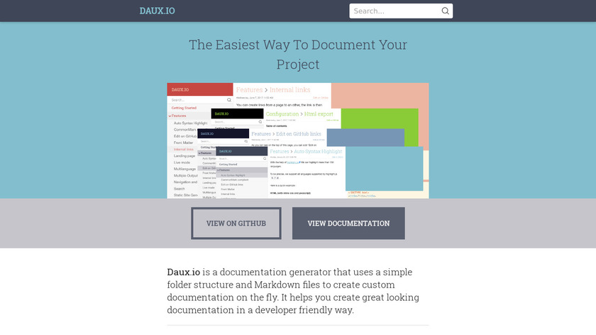Daux.io Landing Page