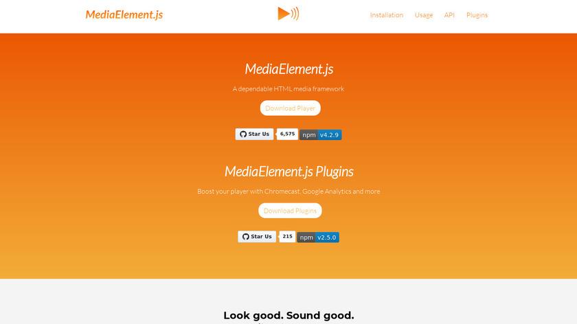 MediaElement.js Landing Page