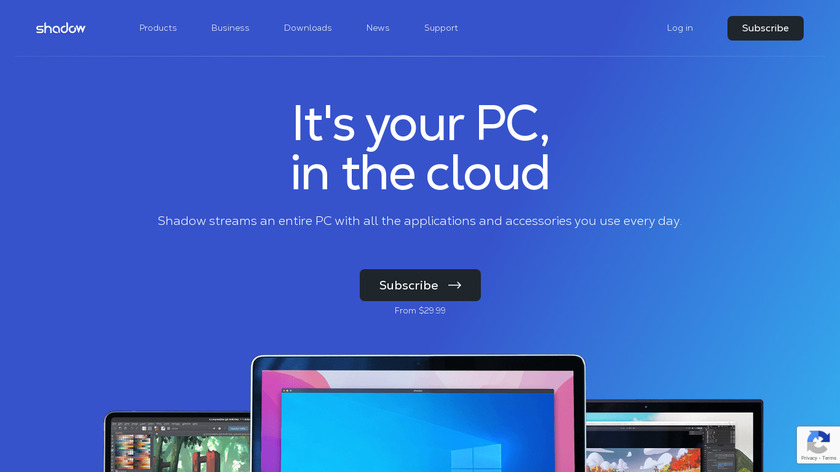 Shadow Landing Page