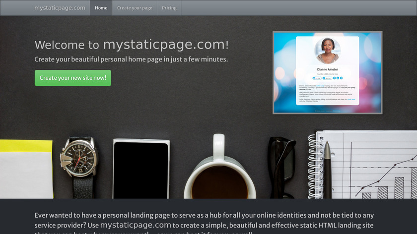 My Static Page Landing Page