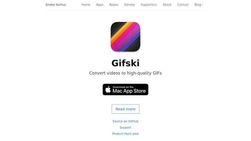 Gifski Landing Page
