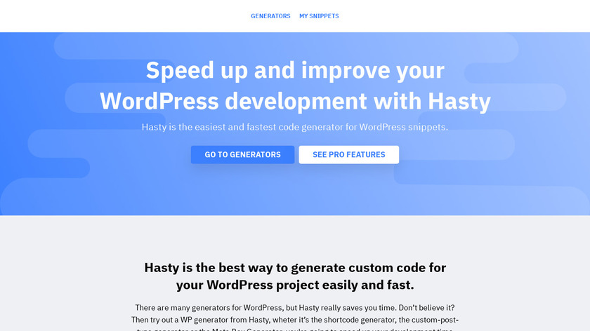 Hasty Landing Page
