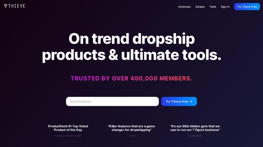 Thieve Landing Page