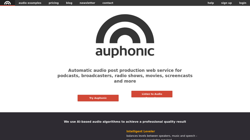 Auphonic Landing Page