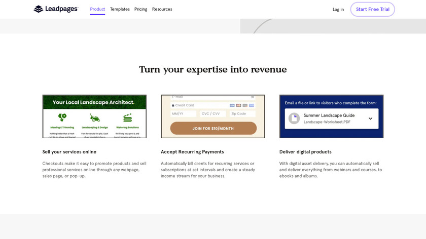 Leadpages Checkouts Landing Page