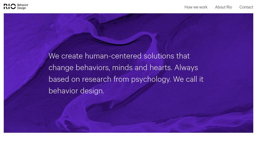 Rio Behavior Design Landing Page