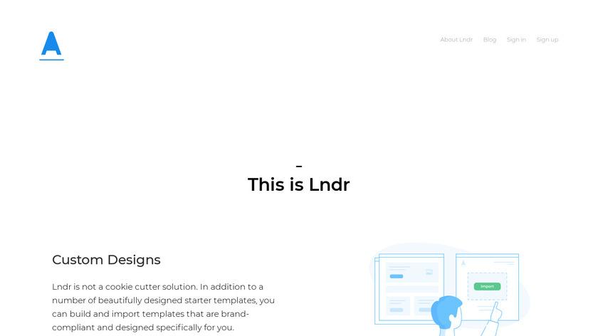 Lndr Landing Page