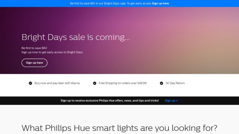 Hue Lights Landing Page