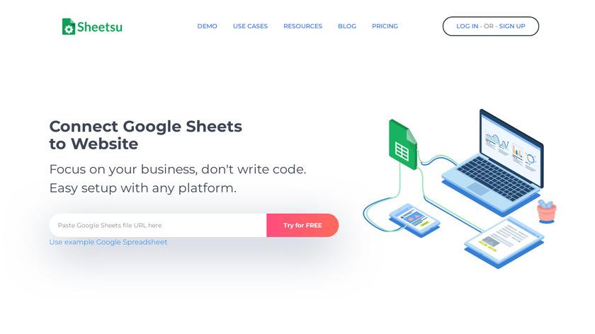 Sheetsu Landing Page