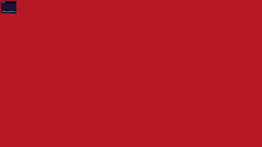 particles.js Landing Page