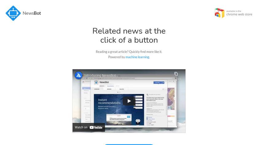 NewsBot Landing Page