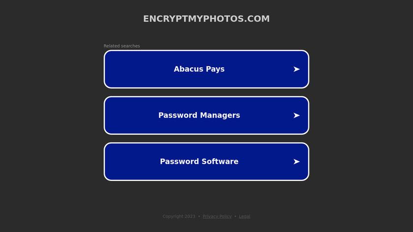 Encrypt My Photos Landing Page
